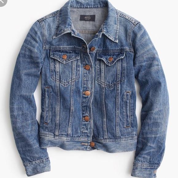 J. Crew Jackets & Blazers - J crew indigo denim jean jacket XS